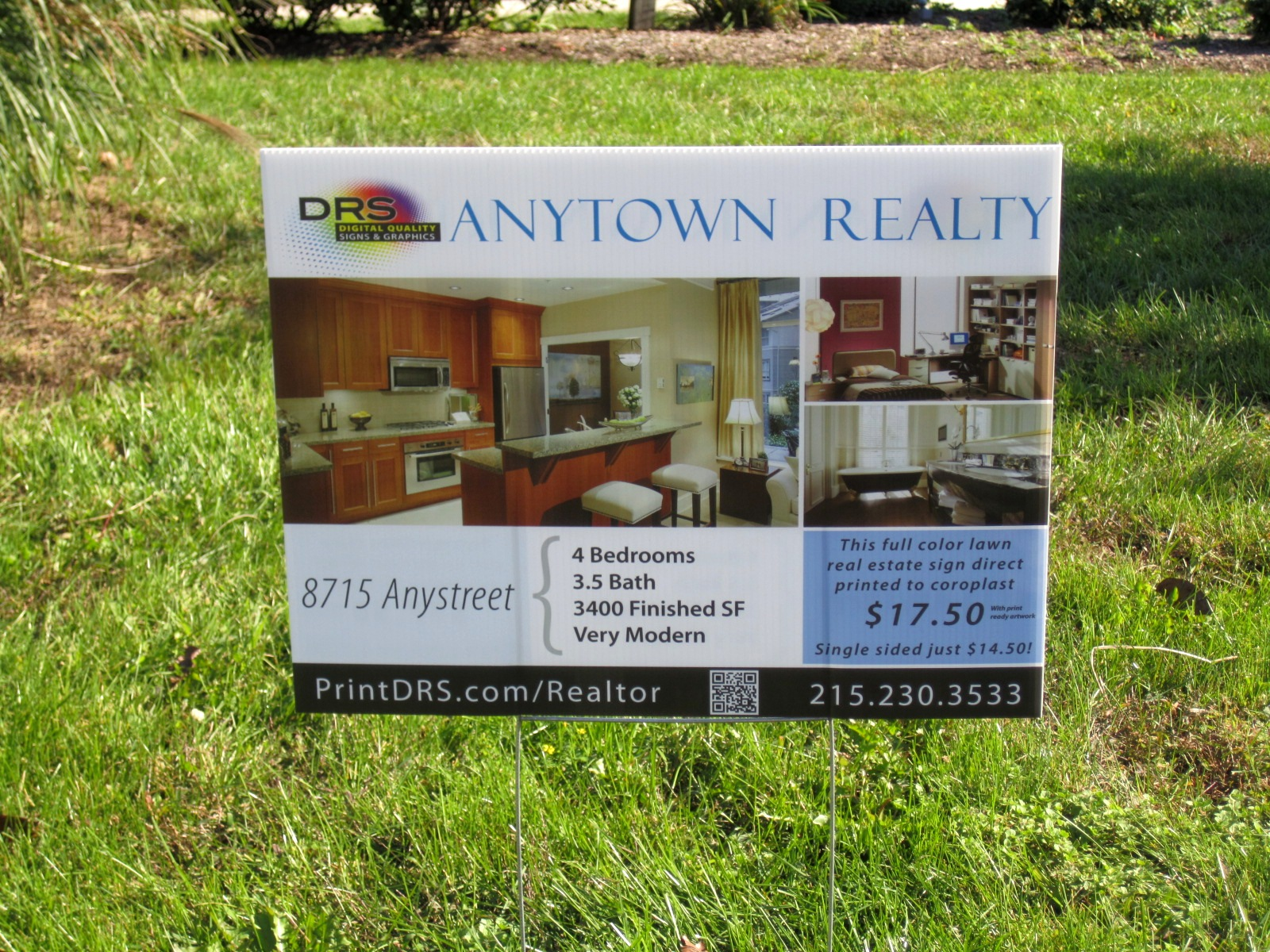 Real Estate Signs : Full color real estate signs for under drs